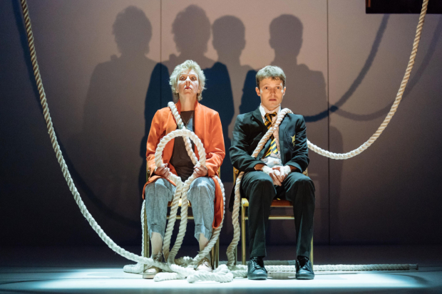 <p>Selina Cadell (Grandmother) and Matthew Tennyson (Conor) in <em>A Monster Calls</em></p><br />© Manuel Harlan