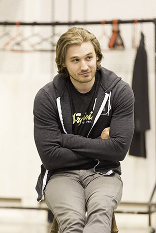 <p>Seth Numrich in rehearsal for <em>Fathers and Sons</em></p><br />© Johan Persson