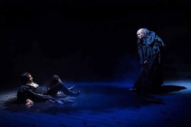 <p>Shane Zaza (Victor Frankenstein) and Harry Attwell (The Creature)  </p><br />© Johan Persson