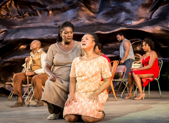 <p>Sharon D Clarke as Mariah and Golda Rosheuvel as Serena</p><br />© Johan Persson