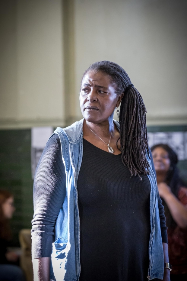 <p>Sharon D Clarke (Caroline Thibodeaux) and cast in rehearsal for <em>Caroline, or Change </em></p><br />© Marc Brenner