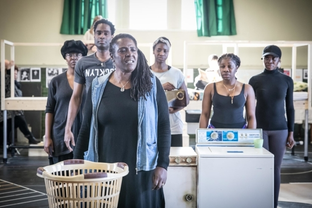 <p>Sharon D Clarke (Caroline Thibodeaux) and cast in rehearsal for <em>Caroline, or Change</em></p><br />© Marc Brenner