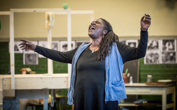 <p>Sharon D Clarke (Caroline Thibodeaux)  in rehearsal for <em>Caroline, or Change </em></p><br />© Marc Brenner