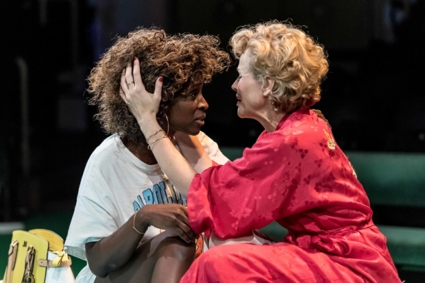 <p>Sharon Duncan-Brewster as Stella Kowalski and Maxine Peake as Blanche DuBois in <em>A Streetcar Named Desire</em> </p><br />© Manuel Harlan