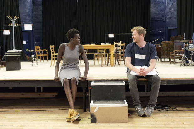 <p>Sheila Atim and Sam Reid in rehearsals for <em>Girl from the North Country</em></p><br />© Manuel Harlan