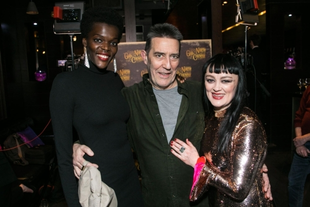 <p>Sheila Atim (Marianne Laine), Ciarán Hinds (Nick Laine) and Bronagh Gallagher (Mrs Burke)</p><br />© Dan Wooller for WhatsOnStage
