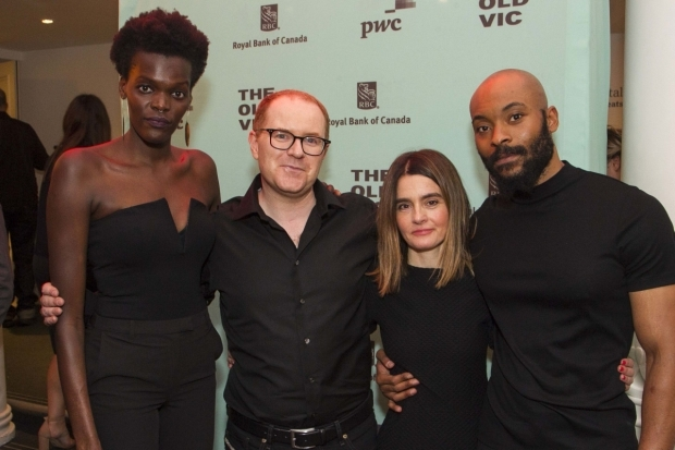<p>Sheila Atim (Marianne Laine), Conor McPherson (Author/Director), Shirley Henderson (Elizabeth Laine) and Arinze Kene (Joe Scott)</p><br />© Dan Wooller for WhatsOnStage