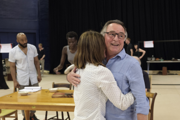 <p>Shirley Henderson and Ron Cook in rehearsals for <em>Girl from the North Country</em></p><br />© Manuel Harlan