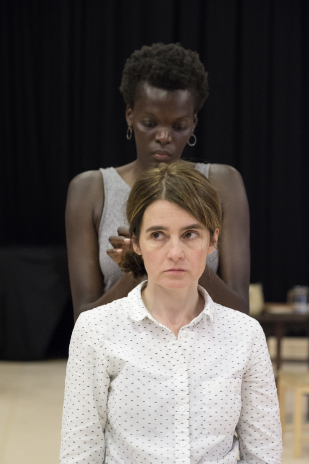 <p>Shirley Henderson in rehearsals for <em>Girl from the North Country</em></p><br />© Manuel Harlan