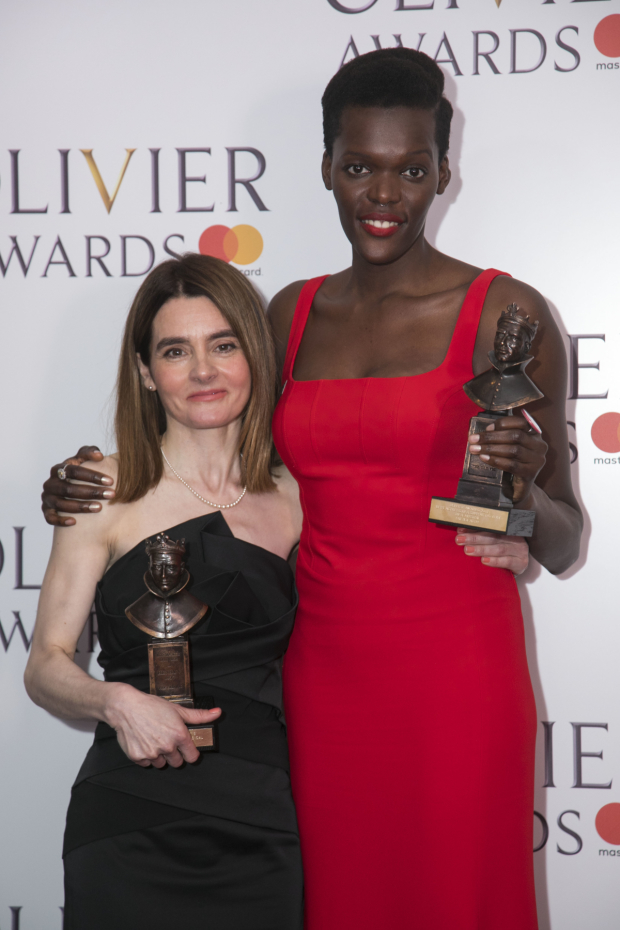 <p>Shirley Henderson, winner of Best Actress in a Musical and Sheila Atim, winner of Best Supporting Actress in a Musical </p><br />© Dan Wooller