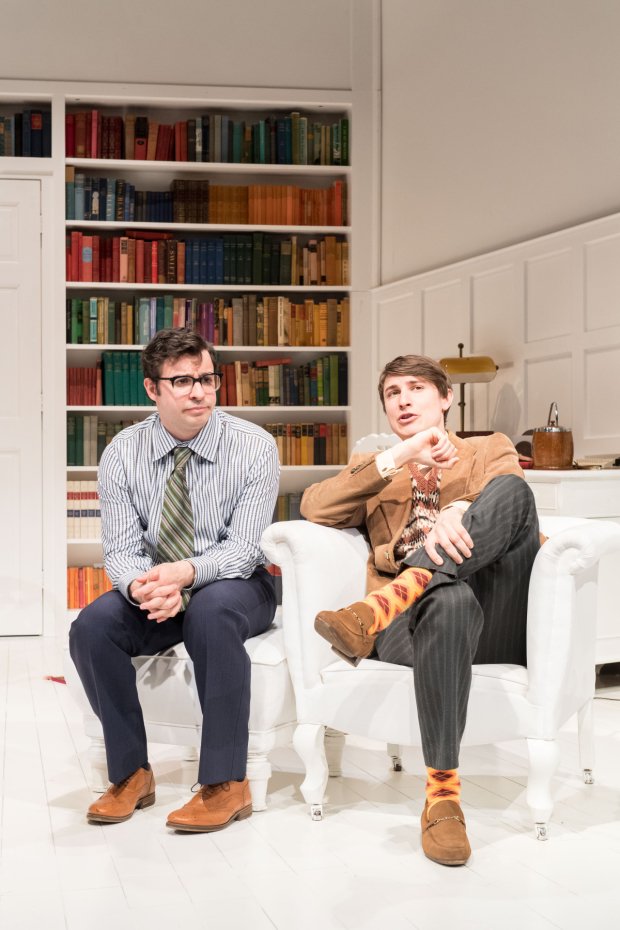 <p>Simon Bird and Tom Rosenthal  in <em>The Philanthropist</em></p><br />© Manuel Harlan