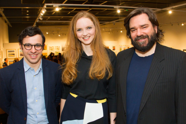 <p>Simon Bird (Philip), Lily Cole (Araminta) and Matt Berry (Braham)</p><br />© Dan Wooller for WhatsOnStage