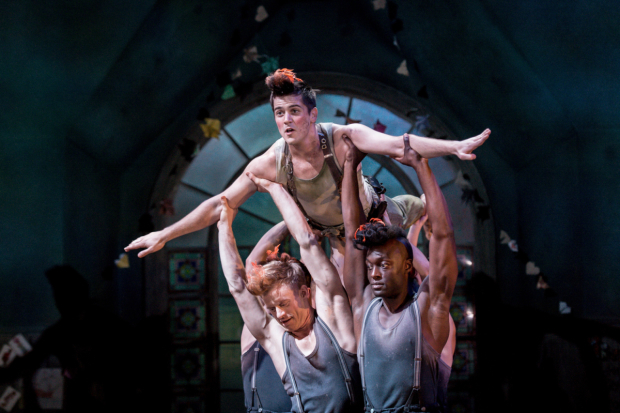 <p>Simon Carroll-Jones (Peter&#39&#x3B;s Shadow), Rhys Rusbatch (Peter Pan) and Arthur Kyeyune (Shadow)</p><br />© Manuel Harlan