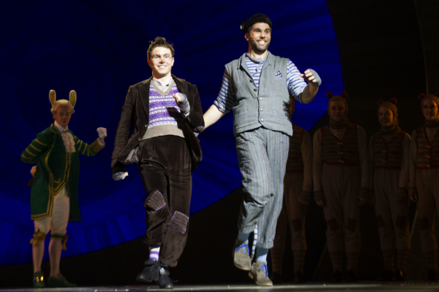 <p>Simon Lipkin (Ratty) and Craig Mather (Mole)</p><br />© Dan Wooller for WhatsOnStage