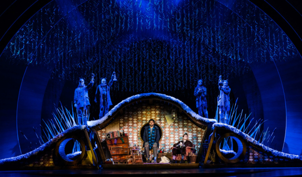 <p>Simon Lipkin (Ratty), Craig Mather (Mole) and Company in <em>The Wind in the Willows</em> </p><br />Darren Bell