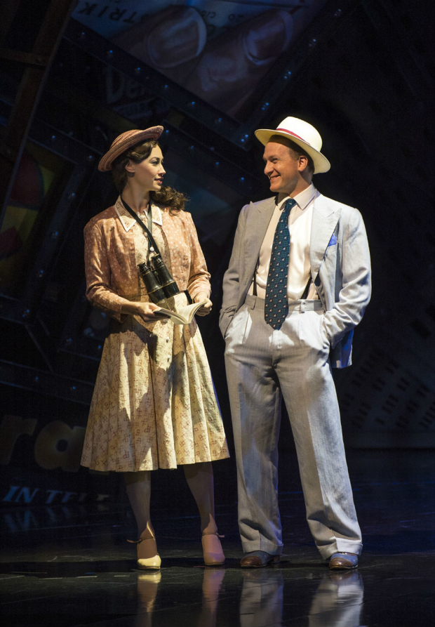 <p>Siubhan Harrison (Sarah Brown) and Jamie Parker (Sky Masterson) in <em>Guys and Dolls</em></p><br />© Paul Coltas