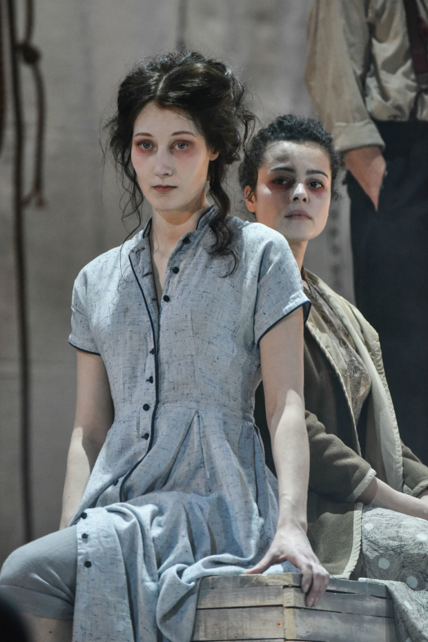 <p>Sofie Lyback and Tatiana Santini in <em>La Strada</em></p><br />(c) Robert Day