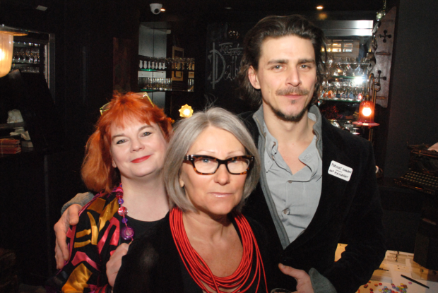 <p>Sofie Mason (founder), Anda Winters (Print Room) and Pericles Snowdon (playwright)</p><br />© Anthony Ofoegbu
