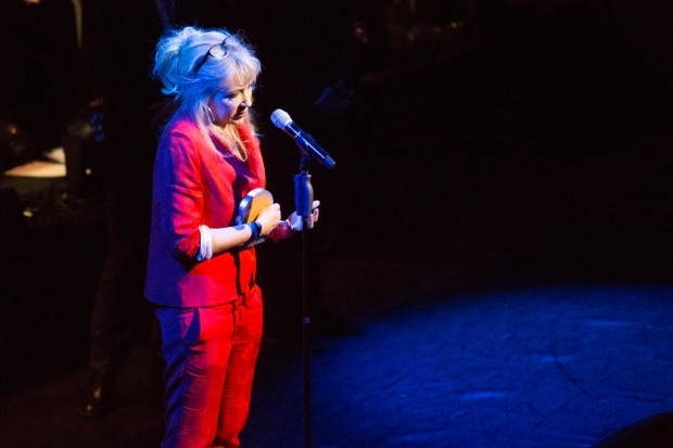 <p>Sonia Friedman picking up the Equity Award for Services to Theatre</p><br />© Peter Gibbons