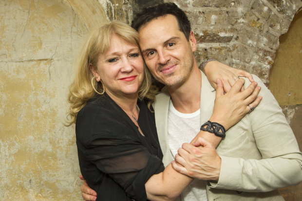 <p>Sonia Friedman (producer) and Andrew Scott (Hamlet)</p><br />© Dan Wooller for WhatsOnStage