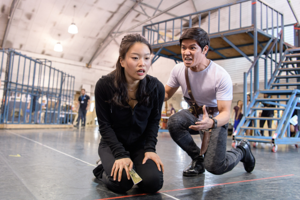 <p>Sooha Kim (Kim) and Gerald Santos (Thuy)  in rehearsals for <em>Miss Saigon</em> </p><br />© Manuel Harlan