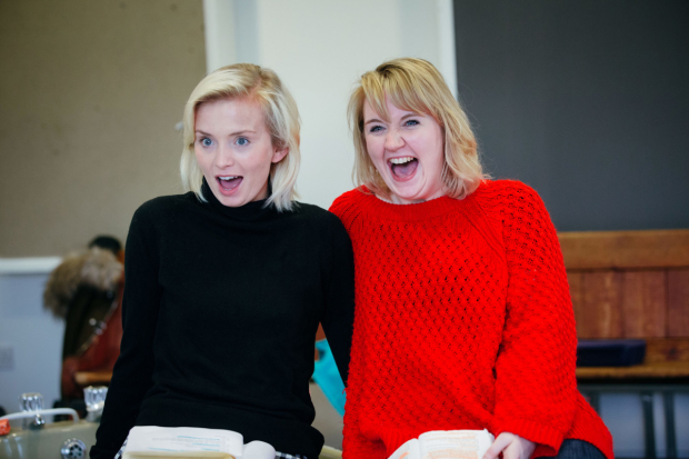 <p>Sophie Melville and Katherine Pearce rehearsing for <em>Low Level Panic</em> </p><br />© Helen Murray