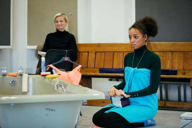 <p>Sophie Melville and Samantha Pearl rehearsing for <em>Low Level Panic</em> </p><br />© Helen Murray