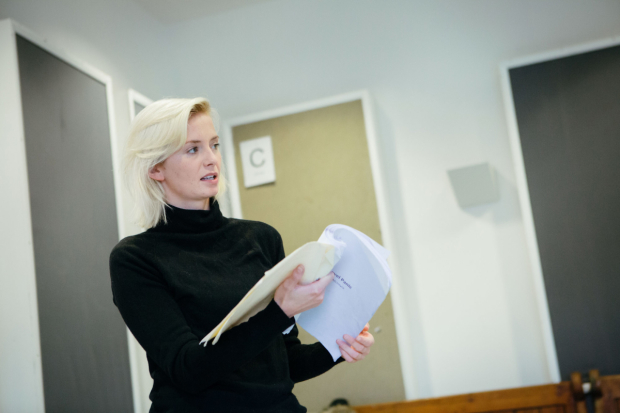 <p>Sophie Melville rehearsing for <em>Low Level Panic</em> </p><br />© Helen Murray