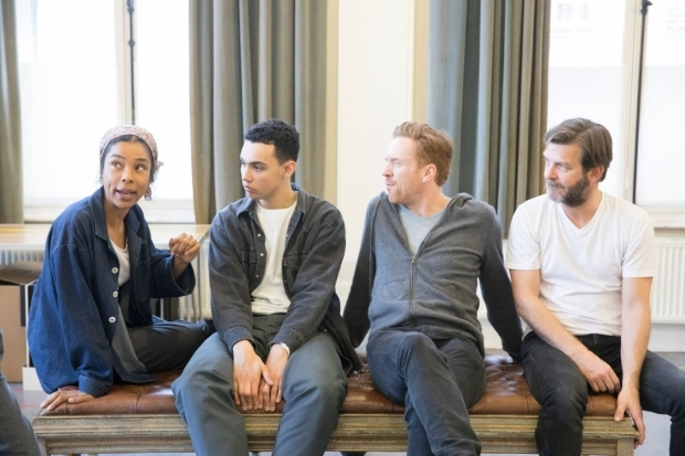 <p>Sophie Okonedo (Stevie), Archie Madekwe (Billy), Damian Lewis (Martin) and Jason Hughes (Ross)</p><br />© Johan Persson
