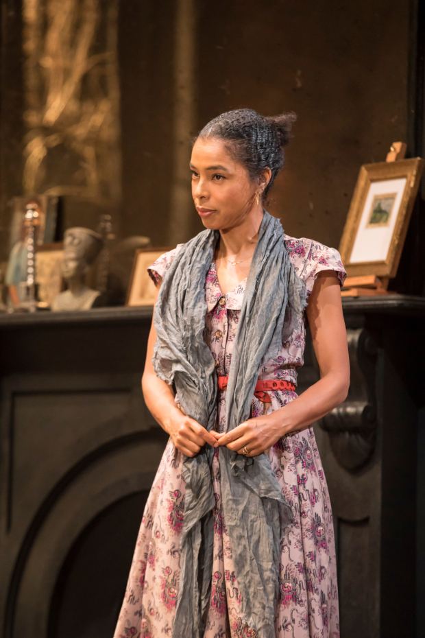 <p>Sophie Okonedo (Stevie) in <em>The Goat, or Who is Sylvia?</em></p><br />© Johan Persson