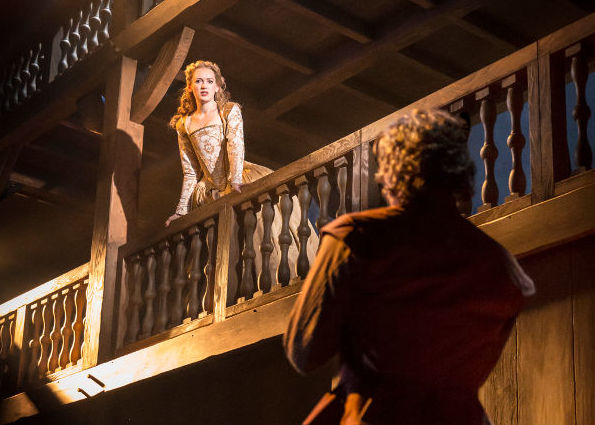 <p>Star-crossed lovers: Lucy Briggs-Owen and Tom Bateman play the roles created on screen by Gwyneth Paltrow and Joseph Fiennes</p><br />© Johan Persson