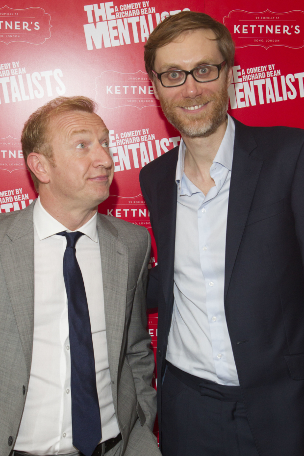 <p>Steffan Rhodri (Morrie) and Stephen Merchant (Ted)</p><br />© Dan Wooller for WhatsOnStage