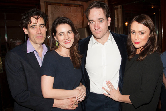 <p>Stephen Mangan and Matthew Macfadyen with their partners, actresses Louise Delamere and Keeley Hawes</p><br />© Dan Wooller for WhatsOnStage