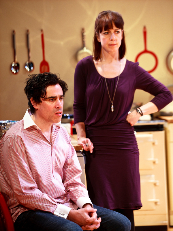 <p>Stephen Mangan as Adam and Claudie Blakley as Sheena</p><br />Simon Annand