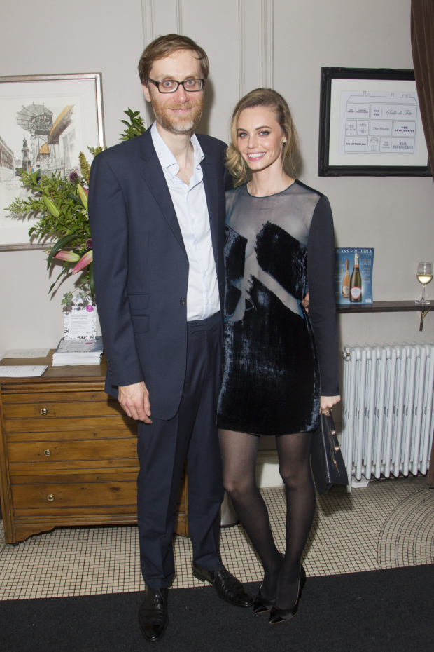 <p>Stephen Merchant (Ted) and Christine Marzano</p><br />© Dan Wooller for WhatsOnStage