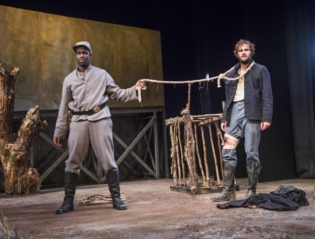 <p>Steve Toussaint (Hero) and Tom Bateman (Smith)</p><br />© Tristram Kenton