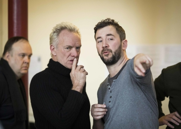 <p>Sting and director Lorne Campbell</p><br />© Helen Maybanks