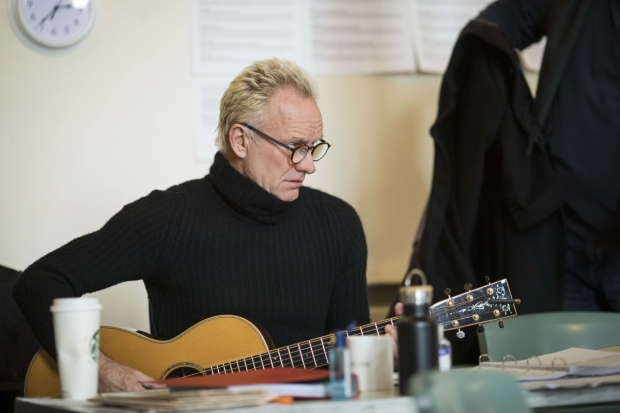 <p>Sting in rehearsals</p><br />© Helen Maybanks