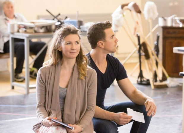 <p>Summer Strallen (Maud) and Richard Fleeshman (George)</p><br />© Johan Persson