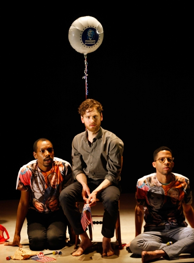 <p>Syrus Lowe, Kyle Soller and Michael Walters in <em>The Inheritance</em></p><br />© Simon Annand