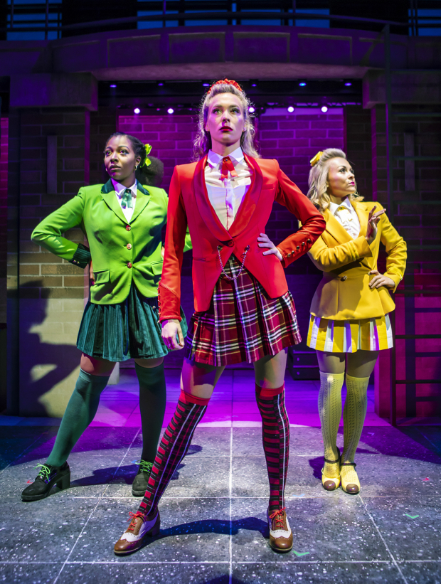 <p>T&#39&#x3B;Shan Williams (Heather Duke), Jodie Steele (Heather Chandler) and Sophie Isaacs (Heather McNamara)</p><br />© Pamela Raith