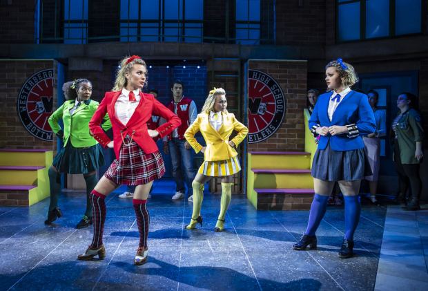 <p>T&#39&#x3B;Shan Williams (Heather Duke), Jodie Steele (Heather Chandler), Sophie Isaacs (Heather McNamara) and Carrie Hope Fletcher (Veronica Sawyer)</p><br />© Pamela Raith