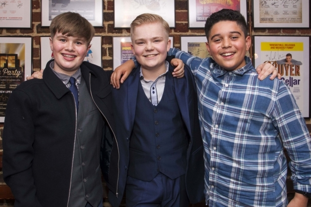 <p>The Barrys: Callum McDonald, Connor Davies and Jason Rennie</p><br />©Dan Wooller for WhatsOnStage