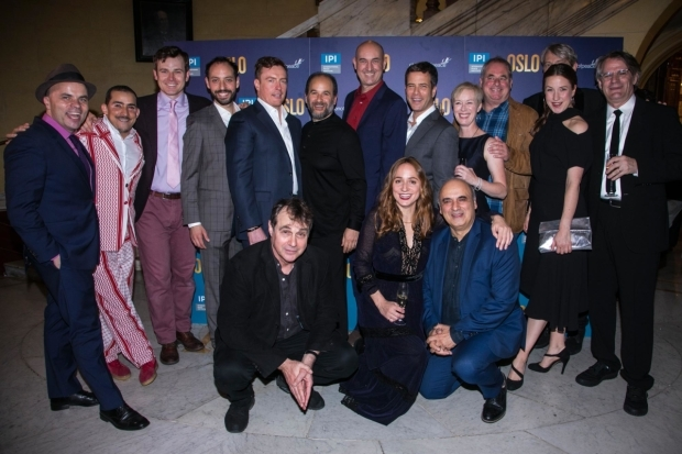 <p>The cast and creative team of <em>Oslo</em></p><br />© Dan Wooller for WhatsOnStage