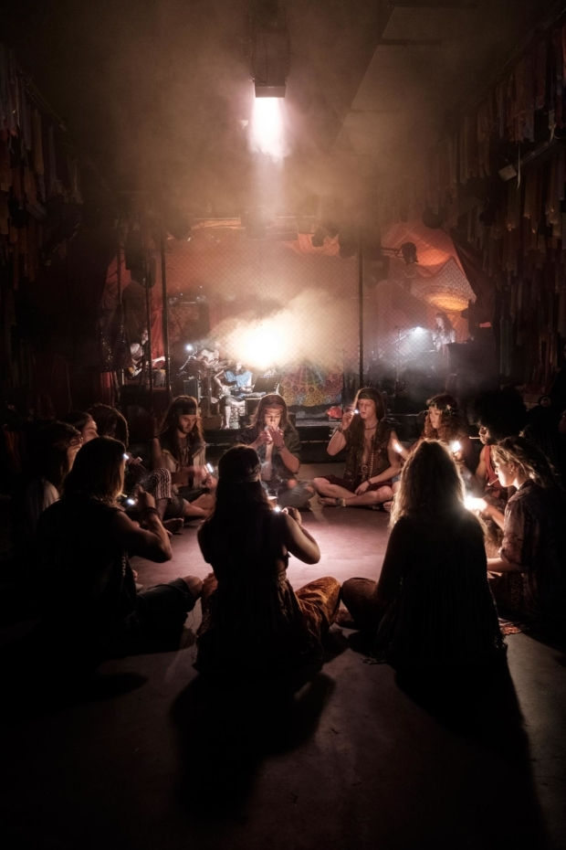 <p>The cast of <em>Hair</em></p><br />© Claire Bilyard