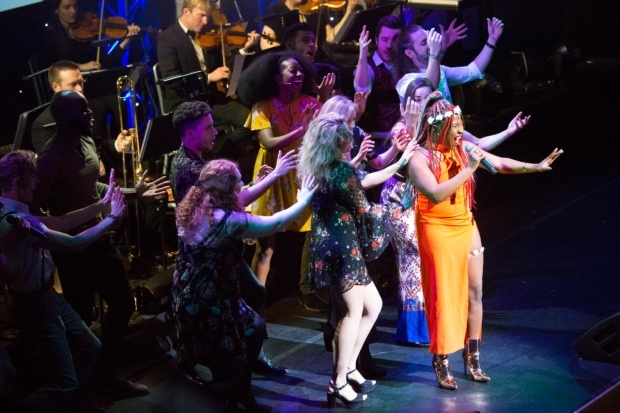 <p>The cast of <em>Hair</em>, which won Best Off-West End production</p><br />© Peter Gibbons