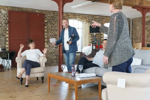 <p>The cast of The Lie in rehearsal. </p><br />© Manuel Harlan