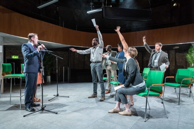 <p>The cast of <em>They Drink It in the Congo</em></p><br />© Marc Brenner
