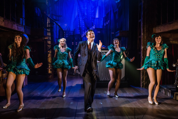 <p>The cast withTom Chambers in <em>Crazy For You</em></p><br />© Richard Davenport