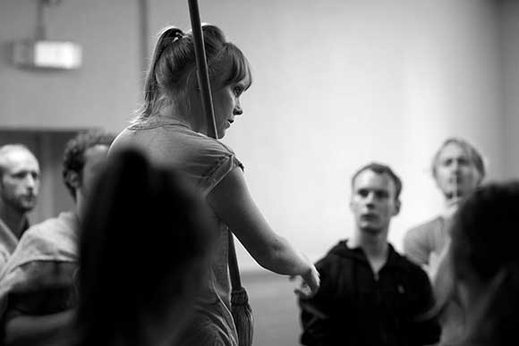 <p>The company in rehearsal for <em>Carousel</em></p><br />© QNQ Creative